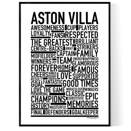 Team Aston Villa Poster