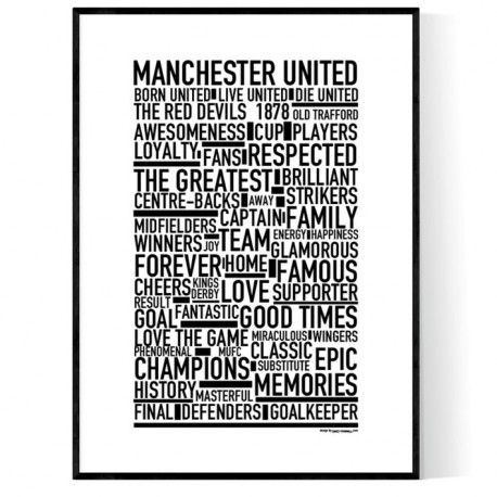 Team Manchester United Poster