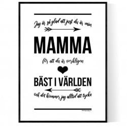 Bäst i Världen Mamma Poster