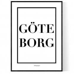 Göteborg Box Logo Poster
