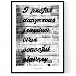 Dangerous Freedom Poster