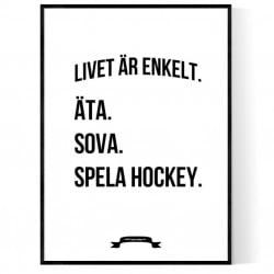 Hockey Livet Poster
