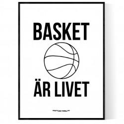 Basket Är Livet Poster
