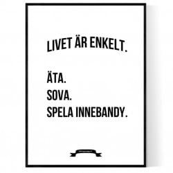 Innebandy Livet Poster
