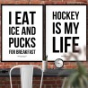 Ice And Pucks Poster