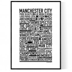 Team Manchester City Poster
