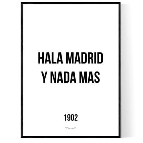 Hala Madrid Y Nada Mas Poster
