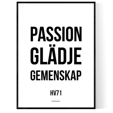 Glädje Passion Gemenskap Poster