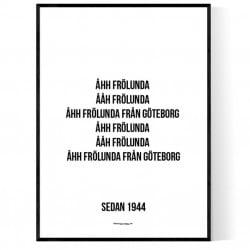 Åhh Frölunda Poster