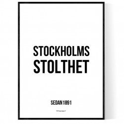 Stockholms Stolthet Poster