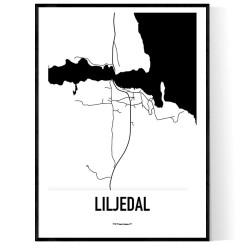 Liljedal Karta