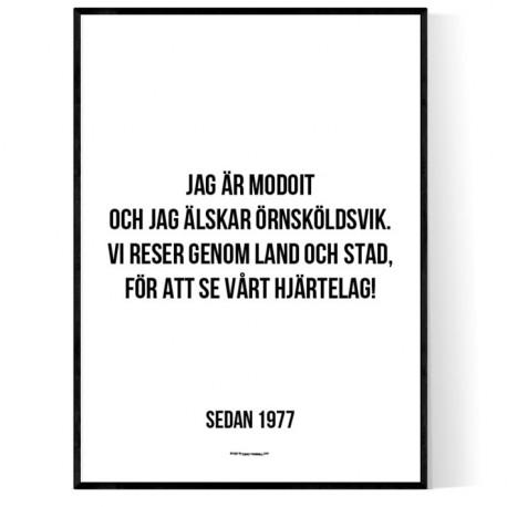 Jag är Modoit Poster