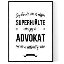 Advokat Hjälte Poster