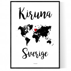Kiruna Sverige Poster