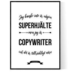 Copywriter Hjälte Poster