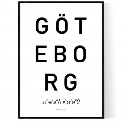Göteborg Optik Poster