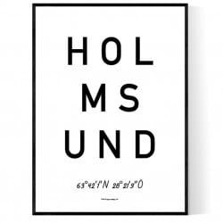 Holmsund Optik Poster