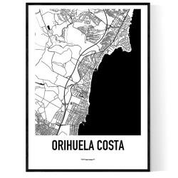 Orihuela Costa Karta Poster