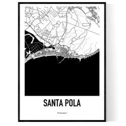 Santa Pola Karta Poster