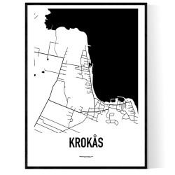 Krokås Karta