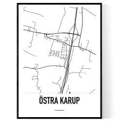 Östra Karup Karta