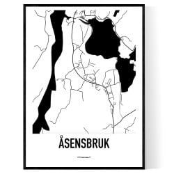 Åsensbruk Karta
