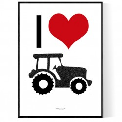 I Love My Tractor Poster