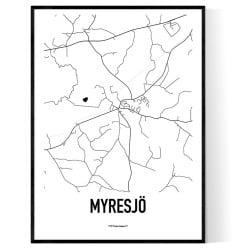 Myresjö Karta