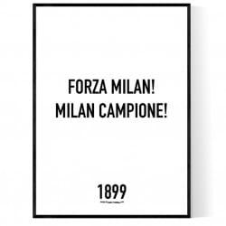 Forza Milan Poster