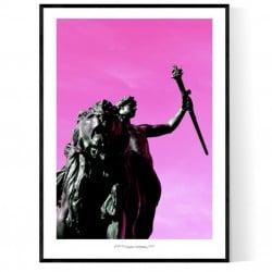 Statue Buckingham London Poster
