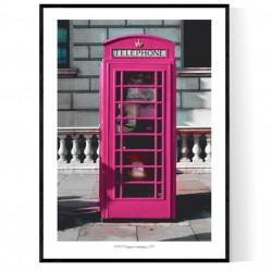 London Pink Telephone Poster