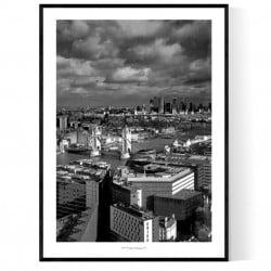 The Shard Sky London Poster