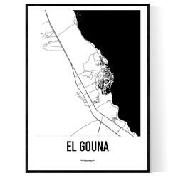 El Gouna Karta Poster