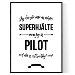Pilot Hjälte Poster