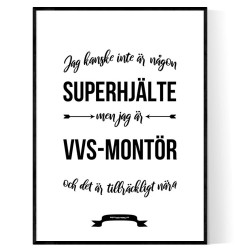VVS-montör Hjälte Poster