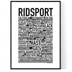 Ridsport Poster