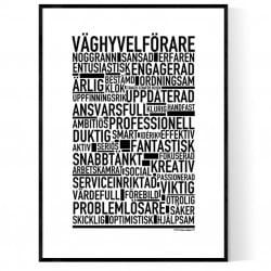Väghyvelförare Poster