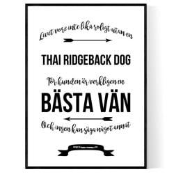 Livet Med Thai Ridgeback Dog