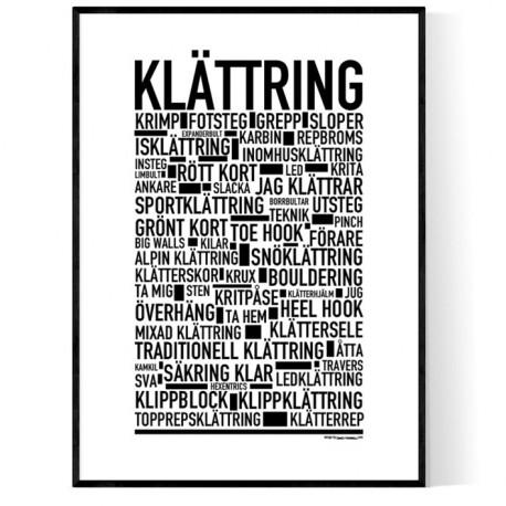 Klättring Poster