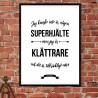 Klättrare Superhjälte Poster