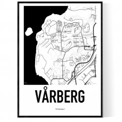 Vårberg Karta Poster