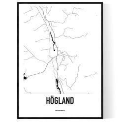 Högland Karta