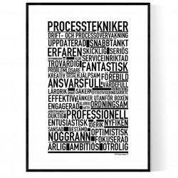 Processtekniker Poster