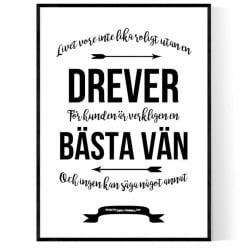 Livet Med Drever Poster