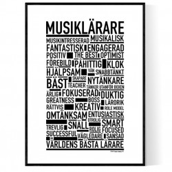 Musiklärare Poster