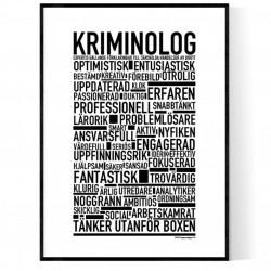 Kriminolog Poster
