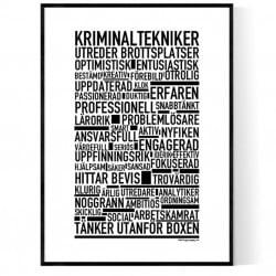 Kriminaltekniker Poster