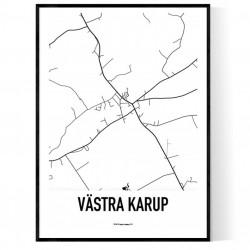 Västra Karup Karta