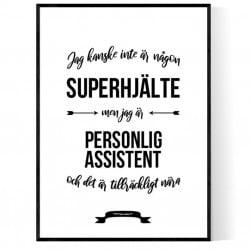 Personlig Assistent Hjälte Poster