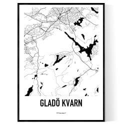 Gladö Kvarn Karta Poster